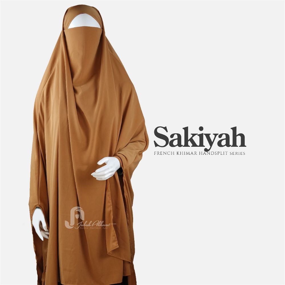 French khimar basic warna caramel