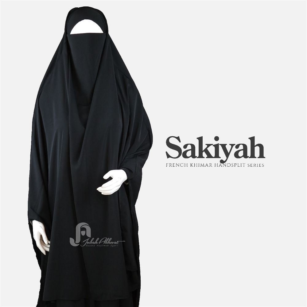 French khimar basic warna hitam