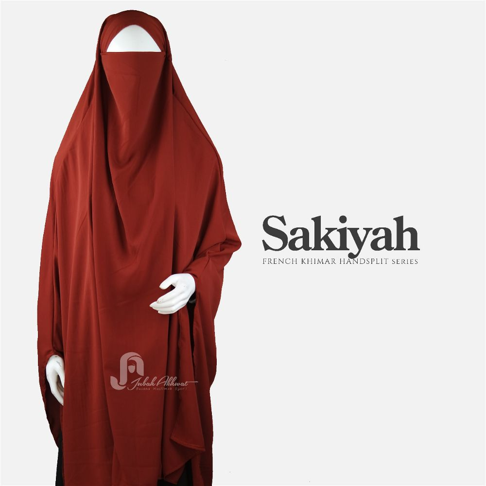 French khimar basic warna terracota