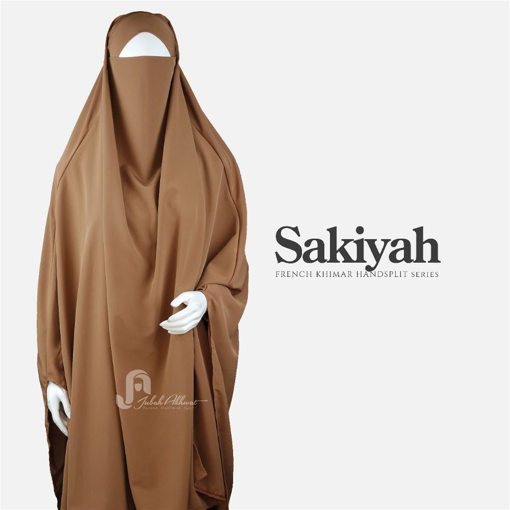 French khimar basic warna hazelnut