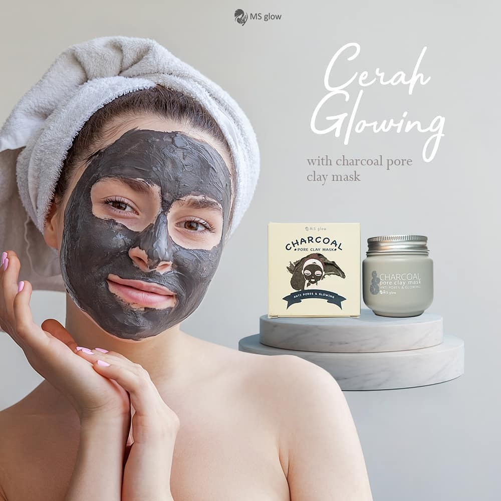 charcoal ms glow clay mask