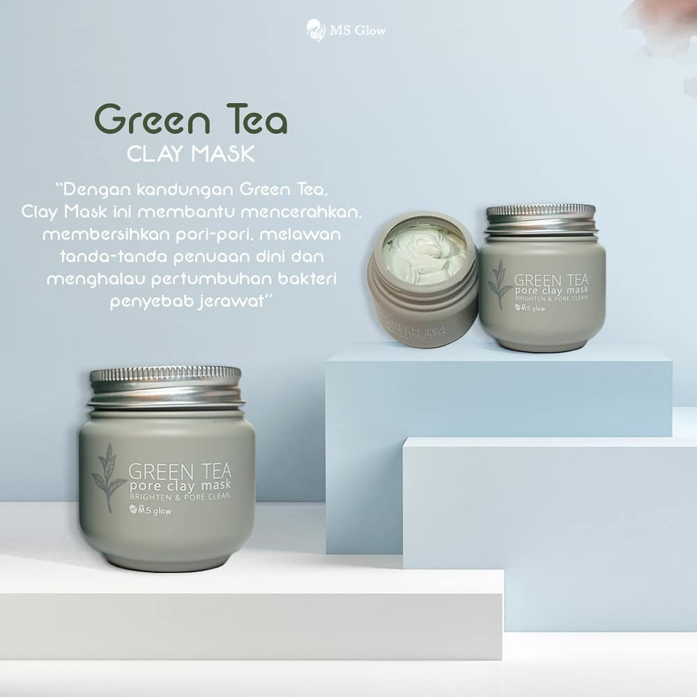 Manfaat MS Glow Green Tea Clay Mask