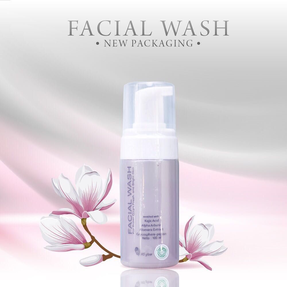 Facial wash ms glow new packaging