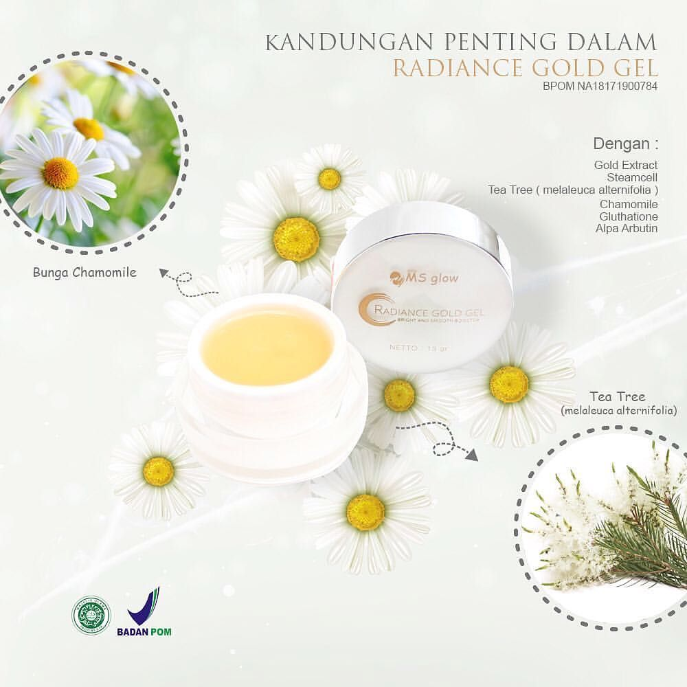 Kandungan Radiance Gold Gel Ms Glow