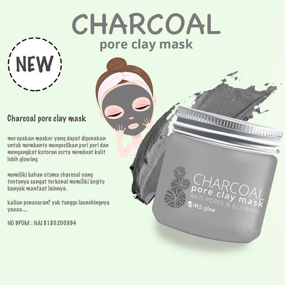 MS Glow Charcoal Clay Mask