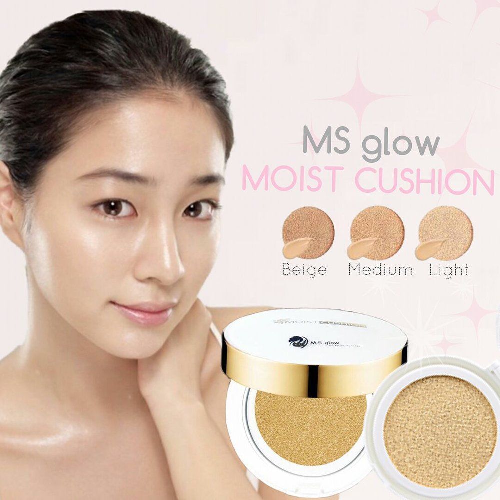 Bedak Padat MS Glow - Moist Cushion, Recommended !!