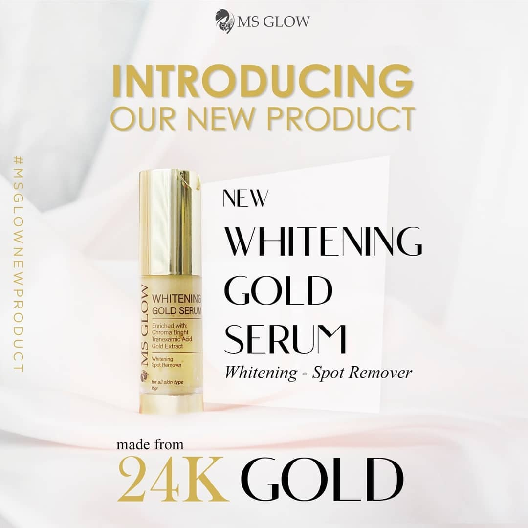 NEW: Whitening Gold Serum MS Glow + Review