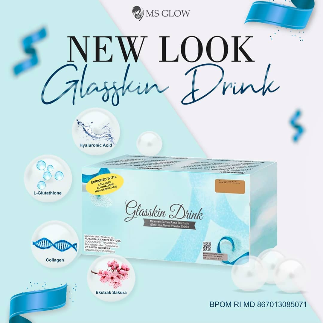 Glass Skin Drink MS Glow - Kemasan Terbaru Beauty Drink