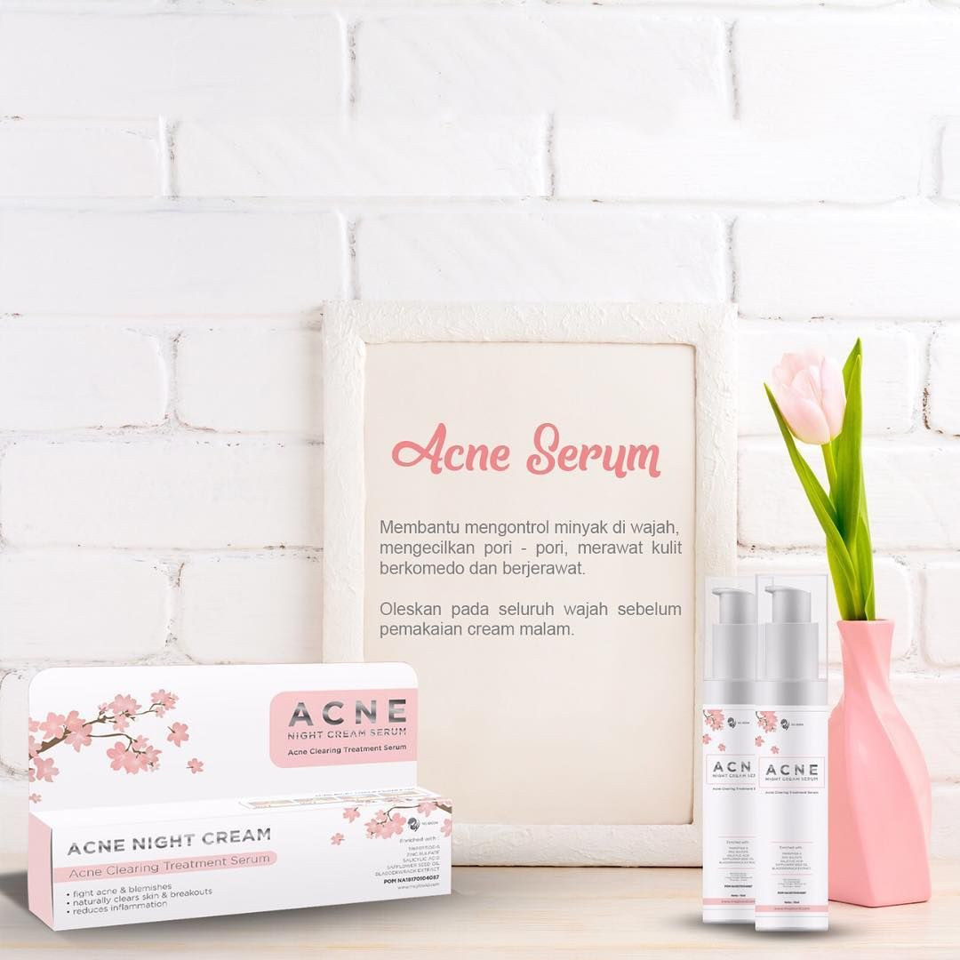 serum acne night cream
