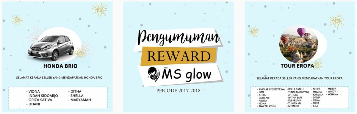 Reward & Bonus MS Glow