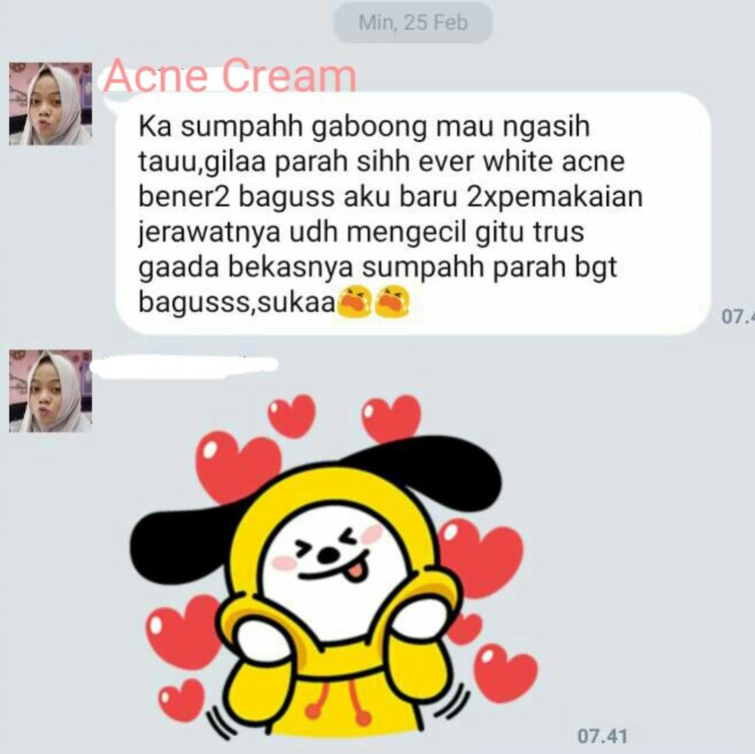 Review Testimoni Everwhite Acne Cream 6