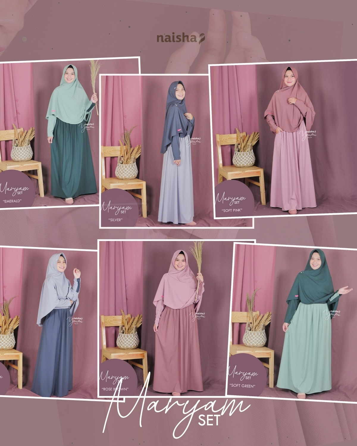 Gamis Set Syari: Maryam Dress by Naisha