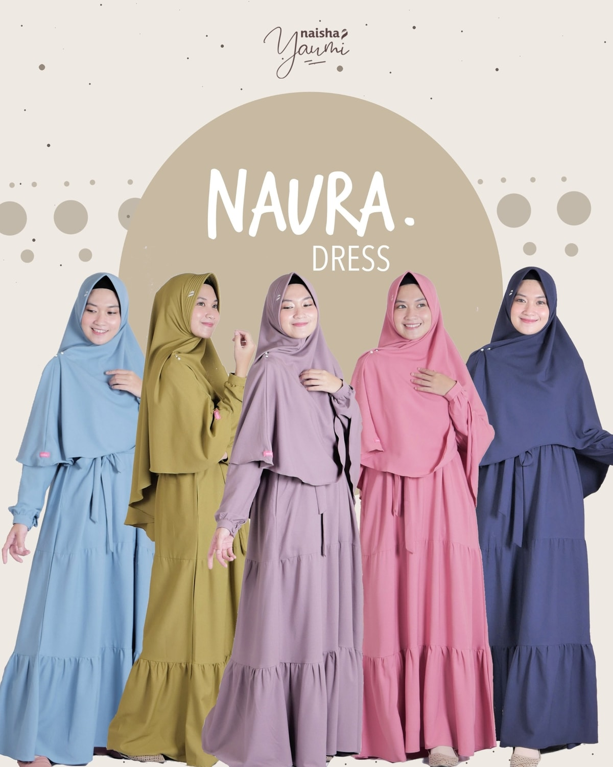 Gamis Syari: Naura Dress by Naisha