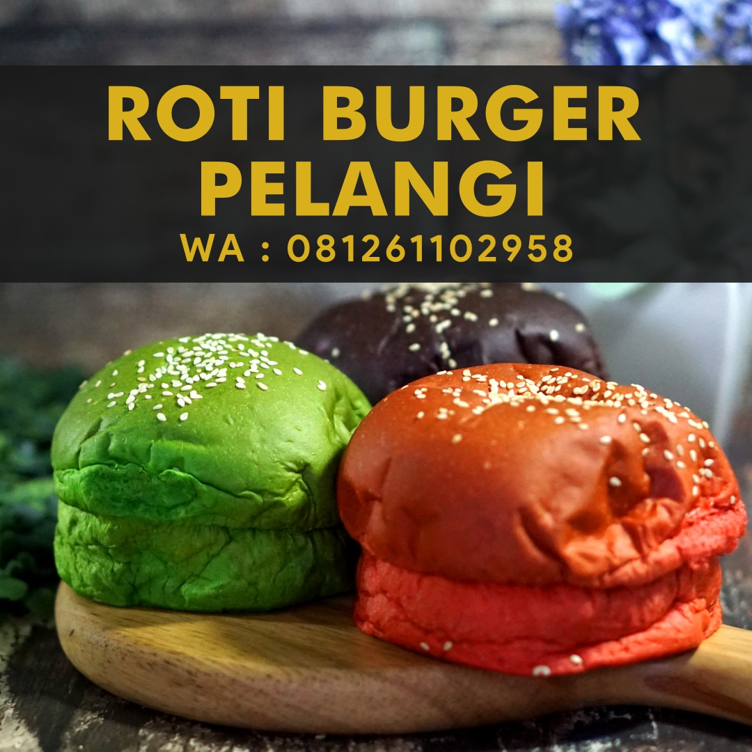 Supplier Roti Burger Warna Warni - Depot Kuliner Medan