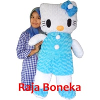 boneka hello kitty biru