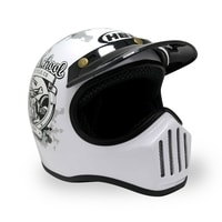 Helm Cakil Old School White 1