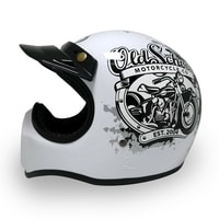 Helm Cakil Old School White 2
