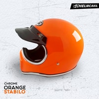 Helm Cakil Lis Chrome - Orange Stabilo 2