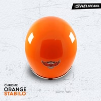 Helm Cakil Lis Chrome - Orange Stabilo 3