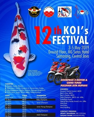 12th KOI's FESTIVAL SEMARANG (3-5 May 2019)