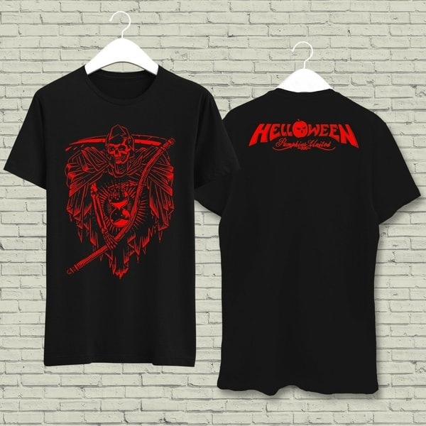 Kaos Band Helloween Time Killer - Z210 - Custom Hitam #SS00272 XS-6XL