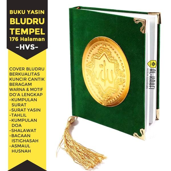Buku Yasin Dan Tahlil Bludru Tempel 176 Halaman Hvs