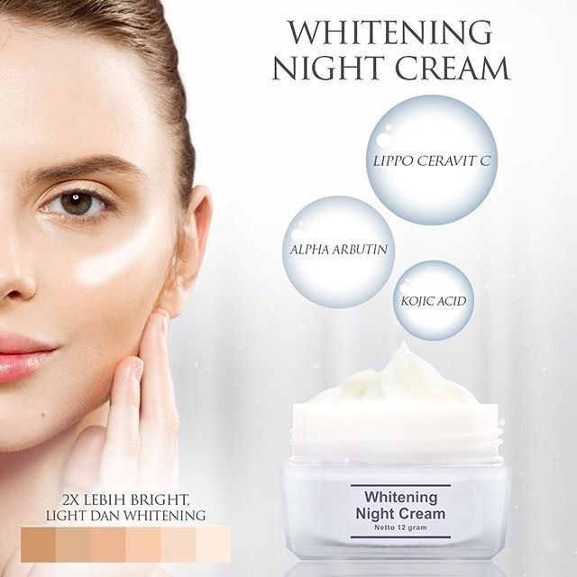 Whitening night cream ms glow new packaging